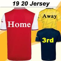en düşük fiyatlı gömlekler toptan satış-2019 2020 Ev Kırmızı Erkek Futbol Formalar Dışarıda Sarı 3 Kısa Kollu Gençlik Futbol Gömlek 19 20 Moda Yetişkin Üniformalar Düşük fiyat Satış