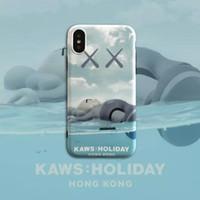 sınırlı iphone toptan satış-Kaws Sınırlı Sayıda Telefon Kılıfı Hong Kong Tatil Telefon Kılıfı Pop Telefon Kılıfı Tam Kapak iphone 7/8/X Max 094