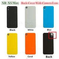 iphone oem zurück großhandel-50PCS OEM Glasdeckel für iPhone XR XS MAX Batterie Glas Rückseite Tür mit anhaftender Aufkleber Kamera Lnes Ring Abdeckung DHL