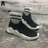 çorap çorabı toptan satış-kadın punk çorap botas kore tasarım kısa patik kadınlar için hip-hop kadın streç ayakkabı karışık renkli yün platform ayakkabı