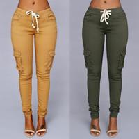 panel delgado de la cintura al por mayor-Elastic Sexy Skinny Jeans Lápiz para Mujeres Leggings Jeans Mujer Pantalones Vaqueros de Cintura Alta de sección delgada Pantalones de mezclilla 8 colores