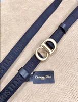 Wholesale men wedding belt resale online - With box new cm models black Dior belts mens womens Jeans belts For men Women Metal Buckle belts with the cm cm size