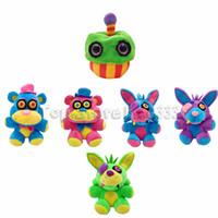 juguete de peluche de reptil al por mayor-2019 New Kids Five Nights en Freddy's Stuffed Animals Toy 6 Modelos Colorful Freddy's Plush Toys