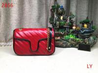 señoras ligas al por mayor-GUCCI Marmont 443497 2019 NUEVO diseño de moda Lady Handbag Designer Small Garter Chain con bolso de cuero diagonal para mujer
