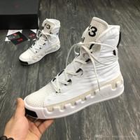 beyaz su geçirmez üst toptan satış-Kanye West Y-3 NOCI0003 Kırmızı Beyaz Siyah Yüksek Top Erkek Sneakers Su Geçirmez Hakiki Deri Y3 Rahat Ayakkabılar Çizmeler