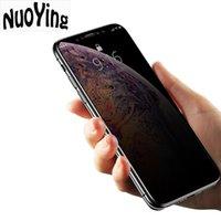 ingrosso pellicola protettiva-Pellicola in vetro temperato anti-pigolio per proteggere la privacy Protezione dello schermo Superficie curva a schermo intero per iPhone X Xs Max Xr