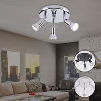 focos de led para cocina de techo al por mayor-montaje superficial llevó el proyector de techo iluminación de la cocina en casa 3 luces giratorias de interior moderno, lámpara de pared de dormitorio sala de estar