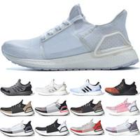 us12 homens correndo venda por atacado-Adidas 2019 Ultra Boost 19 Homens Mulheres Sapatos de Corrida Ultraboost 5.0 Laser Vermelho Escuro Núcleo Pixel Preto Barato Trainer Esporte Tênis Tamanho 36-47