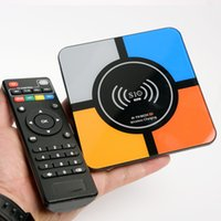 Wholesale android os smart tv box for sale - Group buy S10 plus TV BOX RK3328 Quad core GB GB GB GB GWIFI USB3 H OS Android smart box with wireless charge omk