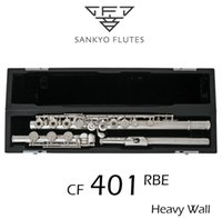 Sankyo CF401 FLUTE ETUDE C Key E Split French Buttons Professional Silver Plated FLute C tone 17 Holes Open Flute Copy