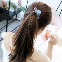лук связей для волос дети оптовых-9Pcs Women Girls Kids Hair Band Hair Bow Rope Ties Wire Star Moon Headband Party Club Headdress