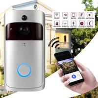 kapılar için interkom toptan satış-Akıllı Görüntülü Kapı Telefonu Kablosuz WiFi Güvenlik Göz Kapı Zili Görsel Kayıt Ev Monitör Gece Görüş Video Interkom Kapı Zili