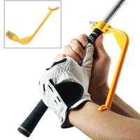 ingrosso bracci oscillanti-Golf Swing Guide Training Aid / Trainer per il gesto di controllo del braccio del polso