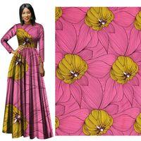 robes africaines en cire achat en gros de-Ankara 100% Polyester Cire Prints Tissu New Hollandais Cire Haute Qualité 6 yards de Tissu Africain pour Robe de soirée