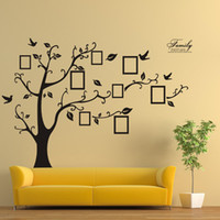 Wholesale black art picture for living room online - Photo Frame Tree Wall Stickers Beautiful Creative Family Picture Memory Tree Living Room Decoration DIY Art Stickers Home Decor