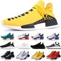 Wholesale human race runner boost running shoes resale online - 2019 NMD Human Race Trail Boost Running Shoes Men Women Pharrell Williams HU Runner Yellow Black White Trainer Sport Sneakers Size