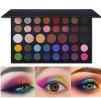 Wholesale eyelids makeup resale online - Famous Colorful Shimmer Matte Artist Eyeshadow Palette Silky Pigmented Hot Eye Shadow Powder Makeup Natural Nude Eyelids