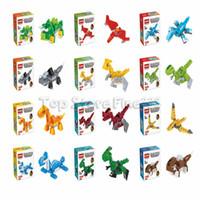 Wholesale best color block for sale - Group buy Dinosaur Building Blocks Pack Modes Dinosaur Come With Color Box Packagin Model Buildingg Best Kids Toys Dinosaur