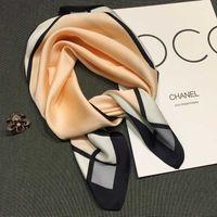 Wholesale pink black scarves resale online - Colors Designer Polyester Scarf for Women Plaid Dot Luxury Shawls Brand Head Wrap Scarves Table Blanket Beach Towel