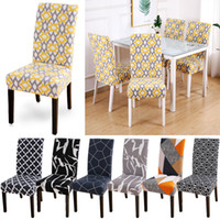 Geometric Printed Chair Cover Printing Zebra Stretch Chair Cover Anti-dirty Removable Seat Covers Slipcovers Banquet