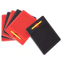 cahier d'apprentissage achat en gros de-Les jouets pour enfants développement intelligence puzzle pad aimant pad planche à dessin stylo magnétique stylo magnétique perles magnétiques apprentissage cahier jouets