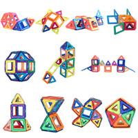 conjunto de bloques de imán al por mayor-40 conjuntos de diseñador magnética bloques de construcción de micro magnética para construir los juguetes educativos 3d modelo de imán molde de los niños juguetes de los niños regalo