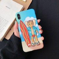 iphone fall surfen großhandel-Für iphone xs max xr telefon case cartoon kaws puppe surfen 6 7 8 x plus imd abdeckungen tpu weiche handy cases