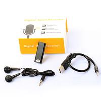 usb pen drive sprachaufzeichnungsgerät großhandel-Mini Voice Recorder 3 in 1 Stereo MP3 Music Player Speicher USB-Stick Digital Audio Voice Recorder Stift Diktiergerät