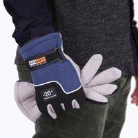 ingrosso guanti da skateboard-Guanti dito Winter Warmer antivento completa delle donne di sport degli uomini i guanti unisex Moto Equitazione Sci Neve Snowboard Sci Guanti