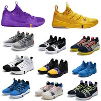 Wholesale kobe shoes pink resale online - 2018 New Kobe AD Exodus Derozan Amarillo Hyper Grape Pacific Blue Atmosphere Grey Basketball Shoes KB A D Mens Trainers Sports Sneakers