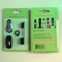 mejores cuerdas de seguridad al por mayor-La mejor calidad Lanyard Vape Pod Carry On Kit con anillo de silicona antipolvo para Vape para JUUL COCO SMPO MT Ecig Pen Holder