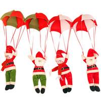 fallschirmspringende weihnachtsdekoration großhandel-Weihnachten Home Deckenschmuck Fallschirm 24cm Weihnachtsmann Smowman New Year Hanging Pendant Weihnachtsdekoration Supplies