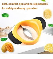 Wholesale orange peeler slicer for sale - Group buy Mango Slicer Mango Peeler Cutter Splitter Pitter with Stainless Steel Blade and Easy Grip Handles Orange