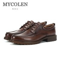 ручная роспись оптовых-MYCOLEN Original  Male British Casual Shoes England New Retro Hand-Painted Leather Shoes Low To Help Dress Men