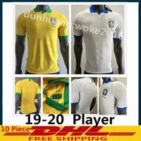 joueur achat en gros de-2019 2020 Player Version Maillots de Soccer Brésil NEYMARJR PELE RONALDINHO COUTONHO