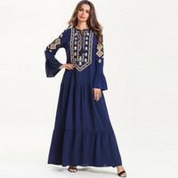 ingrosso abbigliamento islamico jilbab abaya-Abito donna musulmano Abito lungo stampa floreale Abaya Jilbab Abito caftano Dubai Abbigliamento islamico Jilbab Femme Musulman