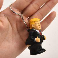 ingrosso portachiavi per giocattoli-Ciondolo auto portachiavi presidente borsa portachiavi spremere divertente Donald Trump giocattolo di simulazione cacca bambola parodia MMA1719