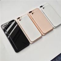 ingrosso copertina posteriore di iphone vetro nero-Per iPhone 6 6S 7 Plus Indietro Custodia come per iPhone 8 Style Metal Glass Full Black Bianco Rosso Nero Cover posteriore Like 8g 8 plus 8+