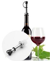 dispensador de vinho de garrafa venda por atacado-Garrafa De Licor De Aço inoxidável Despeje Pourer Cap Wine Spout Dispenser com Tampas para Bares KTV Hotel Birtyday festa