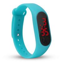 montres électroniques amant achat en gros de-Nouveau LED Lumineux Bracelet Montre Amoureux Rectangulaire PU Numérique Couple Électronique Montre Smart Watch Bracelet Casual