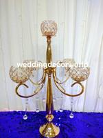 ingrosso centerpieces acrilici per matrimoni-Centrotavola di cristallo indiano di nuovo stile per matrimoni lampadari centrotavola acrilici decor01035