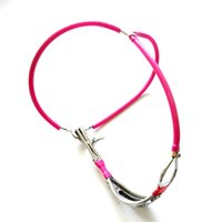 rosa weiblichen keuschheitsgürtel großhandel-New Female unsichtbaren Edelstahlstreifen Design Keuschheitsgürtel Geräte für Frauen mit Vorhängeschloss blau rosa