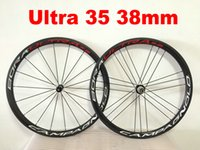 Wholesale carbon bicycle wheels sales for sale - Group buy Sale CAMPAGNOLO BORA ULTRA Carbon Road Wheelset mm Clincher bicycle wheels R36 Matte Glossy Carbon Wheelset a05