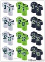 Wholesale football jerseys seattle resale online - Men Women Seattle Seahawks Youth Russell Wilson Shaquem Griffin Chris Carson th Fan Football Jerseys Navy Rush Green