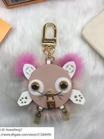 Wholesale cute long purses for sale - Group buy libobo7 WOMEN leather cute key chain pink M63093 New REAL LEATHER LONG WALLET CHAIN WALLETS COMPACT PURSE CLUTCHES EVENING KEY CARD