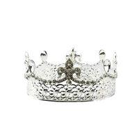 volle runde kronen großhandel-Barock Braut Krone Tiara Kristall Braut Runde Stirnband Hochzeit Tiara Volle Krone Hochzeit Zubehör (Silber)