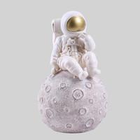 Wholesale ceramic vases home decor for sale - Group buy Space Man Sculpture Astronaut Fashion Vase Rocket Aircraft Ornament Model Ceramic Material Cosmonaut Statue Shuttle Desk Decor