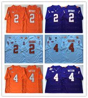 Wholesale clemson jersey deshaun watson resale online - HOT SALE Mens NCAA Clemson Tigers Orange DeShaun Watson Jersey Purple Sammy Watkins Men College Football Jerseys Top Quality