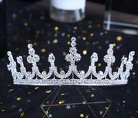 ingrosso monili barocco alto-New Baroque Zircon High-end Bride Crown and Bride Jewelry Copricapi da sposa fatti a mano di alta qualità