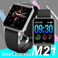 stoppuhren für kinder großhandel-M21 Smartwatch-Armband Wasserdicht Stoppuhr Blut-Sauerstoff-Druckmessgerät Sport Fitness Tracker-Armband für Android IOS Smartphones